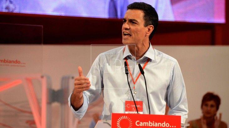 Pedro Sanchez, durante su discurso en cierre del Congreso extraordinario del PSOE
