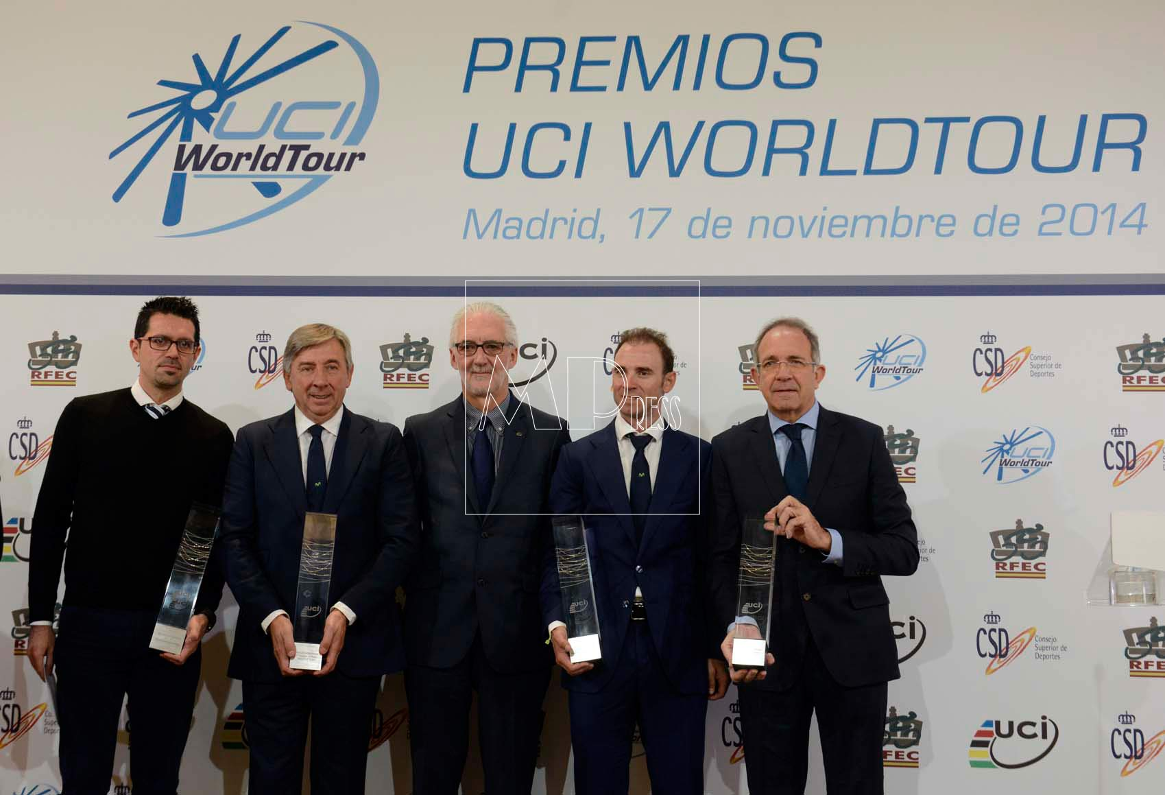 premios del UCI World Tour en Madrid