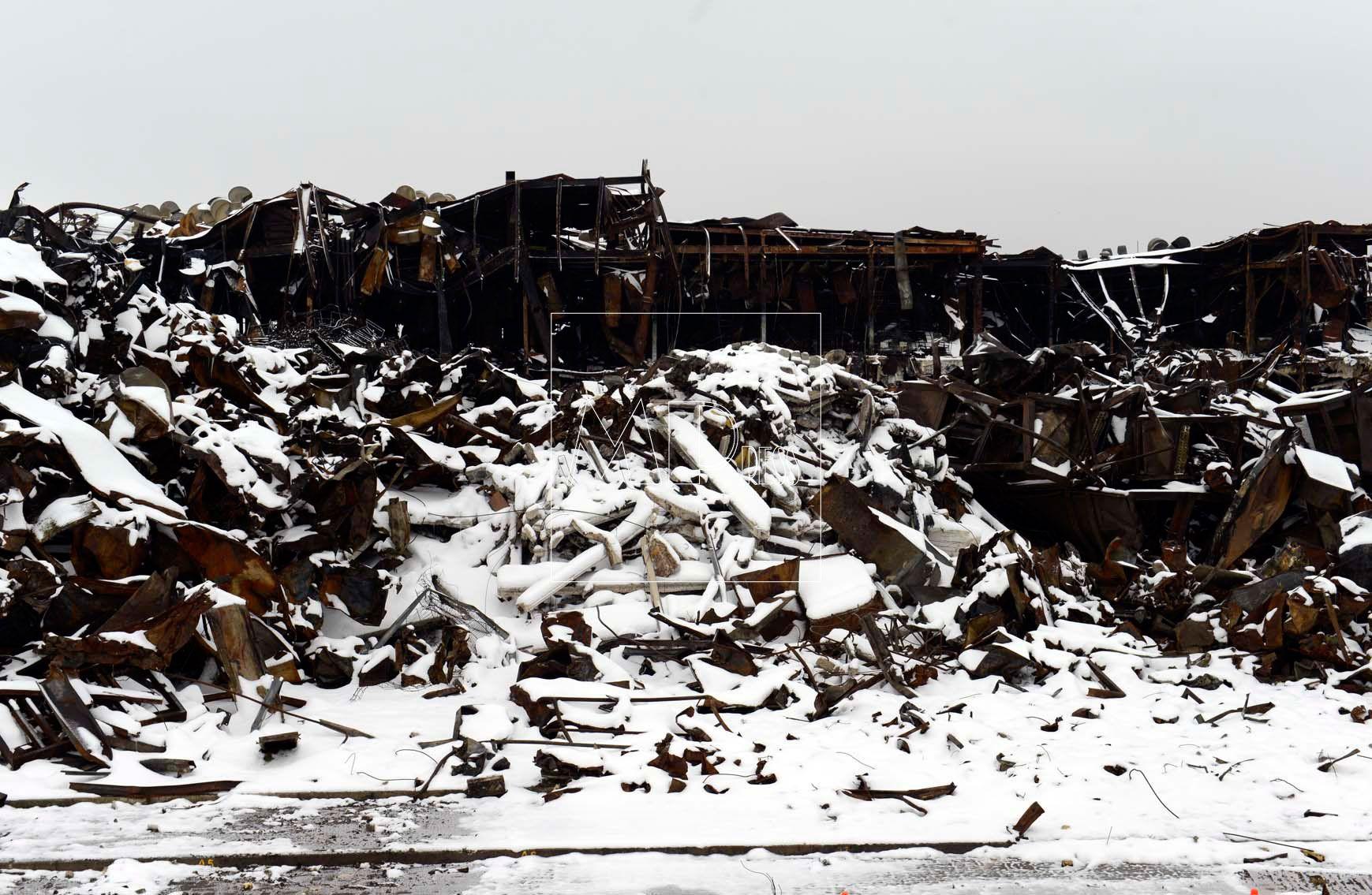 Fábrica incendiada de Campofrio