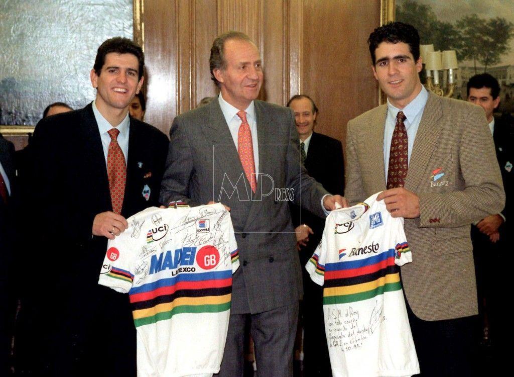 Olano e Induraín con el rey Juan Carlos