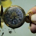 Reloj de bolsillo construido por el Relojero José Rodríguez Losada